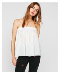 Express - White Sheer Elastic Tube Top - Lyst
