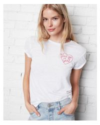Express - White One Eleven You Go Girl Graphic Tee - Lyst