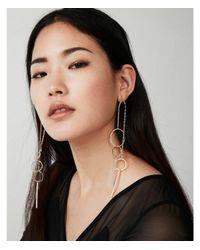 Express | Metallic Eometric Drop Earrings | Lyst