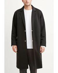 Forever 21 - Black Longline Ponte Knit Coat for Men - Lyst