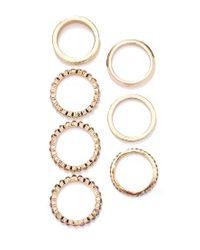 Forever 21 - Metallic Rhinestoned Ring Set - Lyst