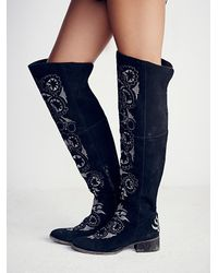 Free People - Black Womens High Noon Tall Boot - Lyst