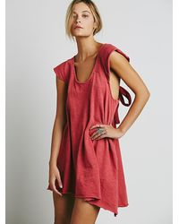 Free People | Red Fp Beach Womens Early Riser Dress | Lyst