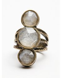 Free People | Metallic Senna Crystal Ring | Lyst