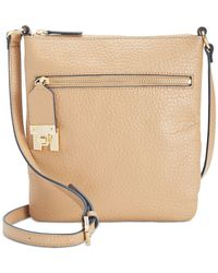 Tommy Hilfiger | Brown Faye Big Pebble Small Crossbody | Lyst