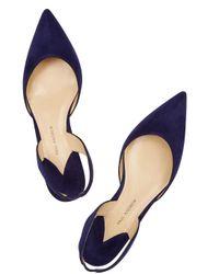 Paul Andrew - Rhea Royal Blue Suede Flats - Lyst