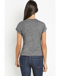 Forever 21 | Black Contemporary Heathered Sweater Tee | Lyst