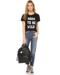 StyleStalker - Black Born To Be Wild Distressed Tee - Lyst