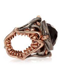 Stephen Webster - Metallic Les Dents De La Mer Crystal Haze Shark Jaw Ring - Lyst