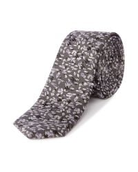 Kenneth Cole - Gray Clay Mini Floral Jacquard Silk Tie for Men - Lyst