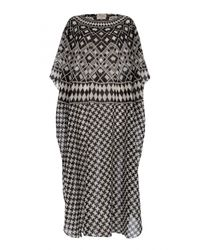 Temperley London - Gray Empire Round Neck Kaftan - Lyst