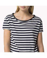 Tommy Hilfiger | Blue Cotton Blend T-shirt | Lyst