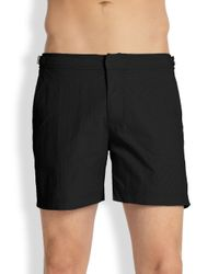 Orlebar Brown | Black Bulldog Solid Swim Shorts for Men | Lyst