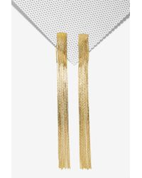 Nasty Gal | Metallic Corrie Chain Fringe Earrings | Lyst