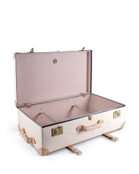 """Globe-Trotter - White Safari 33"""" Extra Deep Suitcase With Wheel - Lyst"""