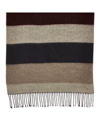 River Island - Brown Beige Reversible Block Color Tassel Scarf for Men - Lyst