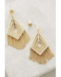 Sarah Magid - Metallic Fringed Geo Earrings - Lyst