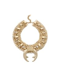 DANNIJO Brown Guthrie Necklace Antic Gold