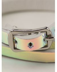 McQ - Multicolor Holographic Buckled Bracelet - Lyst