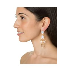 Lele Sadoughi | Metallic Prism Chandelier Earrings, Moonstone | Lyst