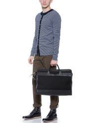 Lotuff Leather - Black Zipper Canvas & Leather Holdall Travel Bag for Men - Lyst