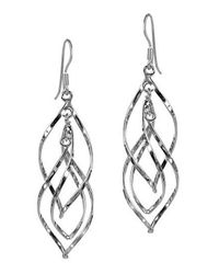 Aeravida - Gray 50mm Gracious Swirling Infinity .925 Steling Silver Earrings - Lyst