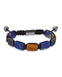 Nialaya | Blue Beaded Cord Bracelet for Men | Lyst