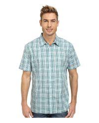 Perry Ellis - Blue Short Sleeve Multicolor Check Shirt for Men - Lyst