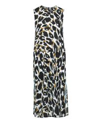 TOPSHOP - Blue Leopard Stripe Dress By Boutique - Lyst