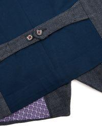 Ted Baker | Blue Nylway Herringbone Waistcoat for Men | Lyst
