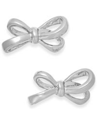 kate spade new york - Metallic Gold-tone Bow Stud Earrings - Lyst