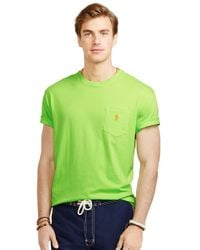 Polo Ralph Lauren - Green Classic Fit Jersey Pocket Crewneck T-Shirt for Men - Lyst