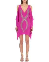 Lazul | Purple Uma Embroidered Silk Tunic | Lyst