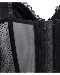 H&M - Black Lace Corset - Lyst