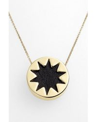 House of Harlow 1960 | Black 1960 Mini Sunburst Pendant Necklace | Lyst