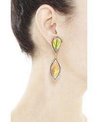 Kimberly Mcdonald - Metallic 18K Rose Gold, Crystal Opal And Diamond Drop Earrings - Lyst