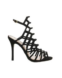 Office | Black Trance Caged Heels | Lyst