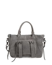 She + Lo | Gray Mini Next Chapter Leather Satchel | Lyst