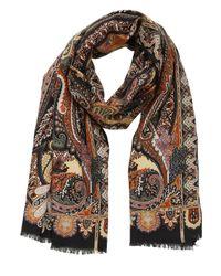 Etro - Multicolor Delhi Wool & Silk Blend Scarf - Lyst