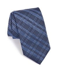 David Donahue | Blue Plaid Silk Tie for Men | Lyst