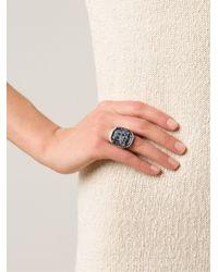 Vivienne Westwood | Metallic 'gerlinde' Obsidian Ring | Lyst