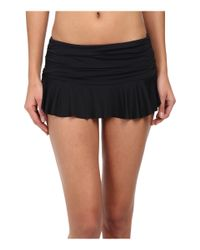 Lauren by Ralph Lauren - Black Laguna Solids Ruffle Skirted Hipster - Lyst