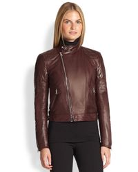 Ralph Lauren Black Label - Red Circuit Leather Biker Jacket - Lyst