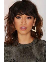 Nasty Gal | Metallic Vanessa Hoop Earrings | Lyst