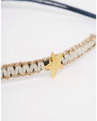 Estella Bartlett | Blue Dream Big Bracelet With Gold Star | Lyst