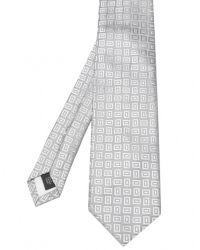 Jules B - Metallic Square Pattern Silk Tie for Men - Lyst