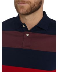 Howick - Blue Seneca Tonal Block Stripe Polo for Men - Lyst