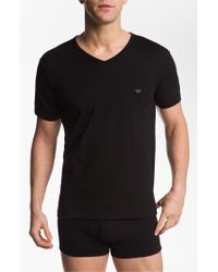 Emporio Armani | Gray 3-pack T-shirt, Black for Men | Lyst