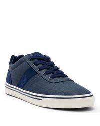 Polo Ralph Lauren | Blue Hanford Canvas Sneaker for Men | Lyst
