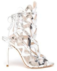 Sophia Webster | Mila Metallic Leather Sandals | Lyst